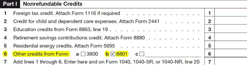Schedule 3 Line 6 box b